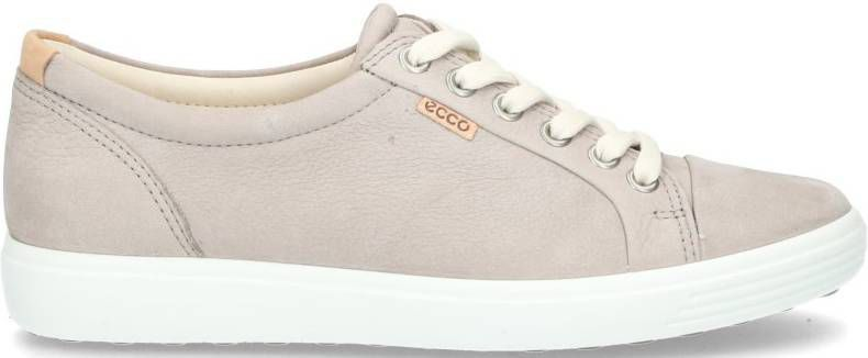 Ecco Soft 7 430003 02375 Warm Grey Taupe Sneaker Veterschoen