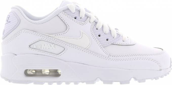 Nike Air Max 90 Leather ZwartWit Peuters