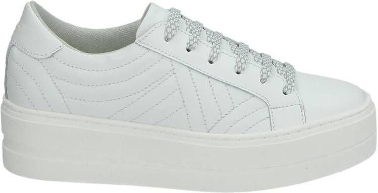 Tamaris leren platform sneakers wit