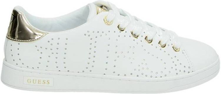 Guess Carterr lage sneakers wit