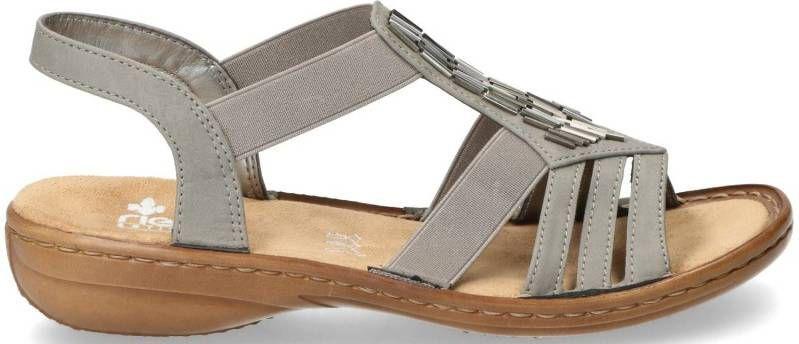 Rieker comfortabele dames sandalen Licht grijs