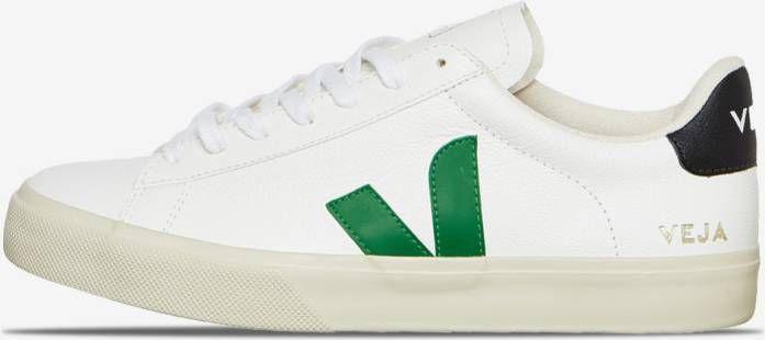 Veja Small-V-10-Laces Sneaker Junior Wit/Donkergroen online kopen