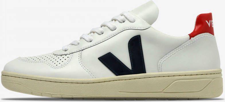 Veja Small-V-10-Laces Sneaker Junior Wit/Donkerblauw online kopen