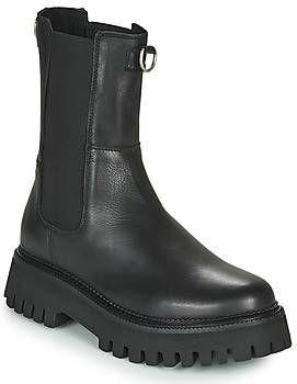 Bronx Groov-y hoge leren chelsea boots zwart online kopen