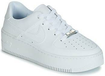 Nike White Air Force 1 Sage Lage sneakers-Wit