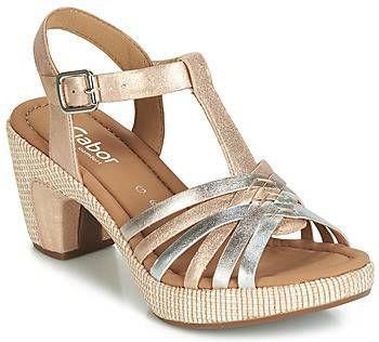 koop online klassieke schoenen betaalbare prijs Gabor Sandalen Goud 22.736.61