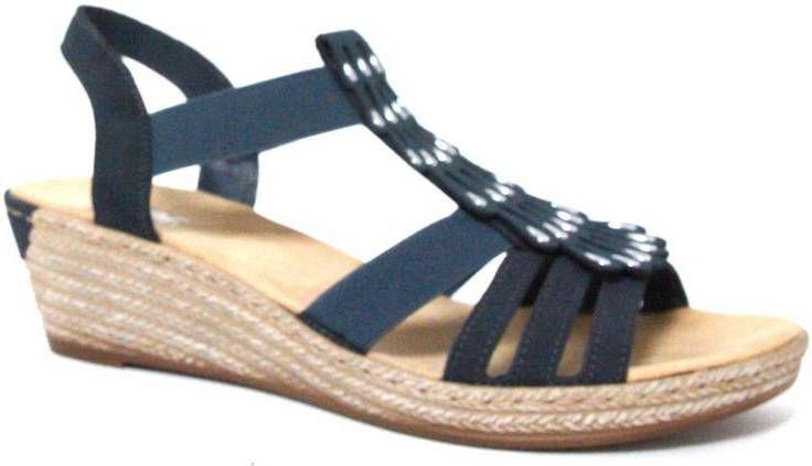 Rieker Dames Sandalen Blauw