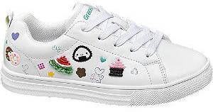 Witte sneaker symbolen Graceland maat 31