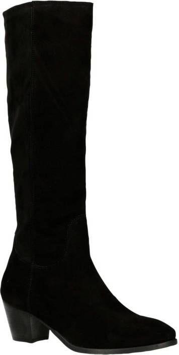 JJ Footwear Bayston XSS schacht leren laarzen zwart | wehkamp