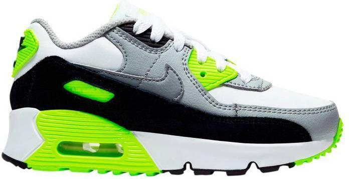 Nike Air Max 90 LTR (GS) leren sneakers witgrijsmintgroen
